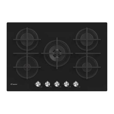 Candy 75cm 5 Ring Gas on Glass Hob - Black | CVG74WPB