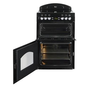 Leisure 60cm Classic All Black Twin Cavity Electric Cooker | BECLA60CEK