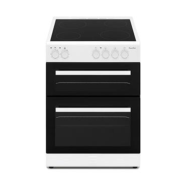 Powerpoint 60cm Double Cavity Ceramic Cooker - White | P06C2SWH