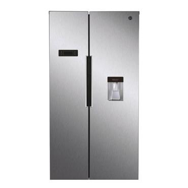 Hoover American Style Fridge Freezer Non-Plumbed I Water Dispenser - Stainless Steel | HHSBSO6174XWD