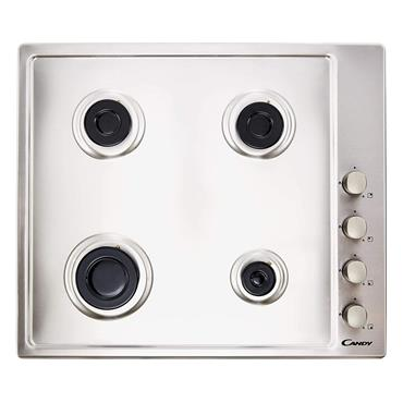 Candy 60cm 4 Ring Gas Hob - Stainless Steel | CHW6LX