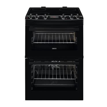 ZANUSSI 60CM ELECTRIC COOKER BLACK | ZCV66250BA