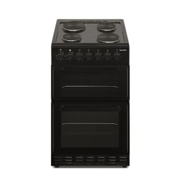 Powerpoint 50cm Double Cavity Solid Cooker - Black | P05E2S1BL
