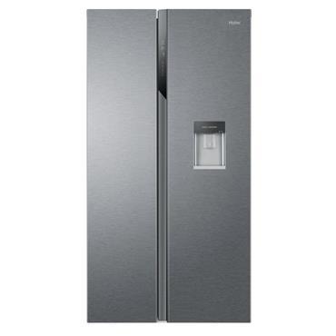 Haier SBS American Fridge Freezer (Non Plumbed) Water Dispenser - Silver | HSR3918EWPG