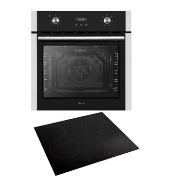 Servis Fan Oven and Touch Control Ceramic Hob Pack - Stainless Steel | S25CPSS