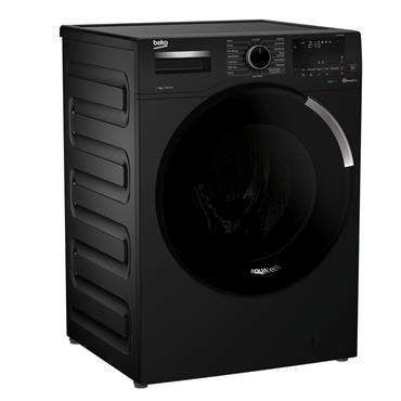 Beko 9kg 1400 Spin Aquatech Washing Machine - Black | WEY94P64EB