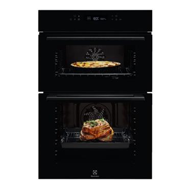 Electrolux Built-In Double Oven and Grill with 3D Hot Air - Black | KDFCC00K