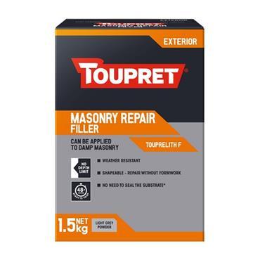 Toupret Masonry Repair Exterior Wall Filler 1.5kg   TP018712