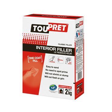 Toupret Interior Filler 2kg | TINF0200