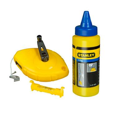 Stanley Chalk Line 30m Blue Chalk & Level | STA047443