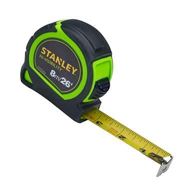 Stanley Hi-Viz Tylon Tape 8m/26ft (Width 25mm) | XMS19HVTAPE8