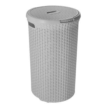 Curver Rattan Round Laundry Hamper Basket | CUR246429