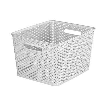 Curver My Style Large Retangular Basket 18 Litre - Grey | CUR232280