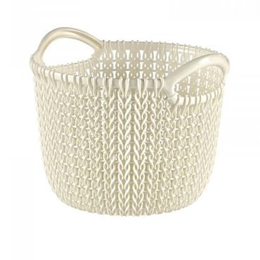 Curver Knit Round Basket 3 Litre - Oasis White | CUR229293