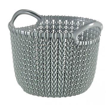 Curver Knit 3 Litre Round Basket - Misty Blue   CUR229297
