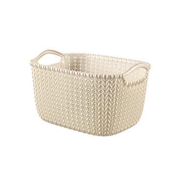 CurverKnit Rectangular Basket Small - Oasis White | CUR229318