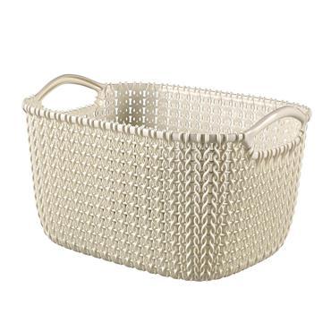 Curver Knit Rectangular Basket 3 Litre - Oasis White | CUR229296