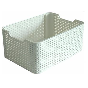CURVER RATTAN STORAGE BOX WHITE 28X19X13