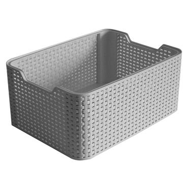 Curver Rattan 18 Litre Storage Box 39x29x71cm - Grey | CUR246442