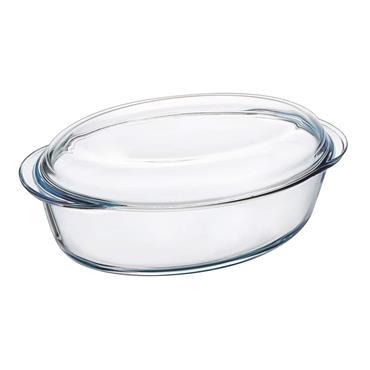 Pyrex Oval Casserole Dish 4 Litre 33cm x 20cm x 13cm   PX0459