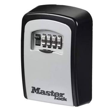 Masterlock Standard Wall Mounted Key Lock Box (Up To 3 Keys) - Black | MLK5401