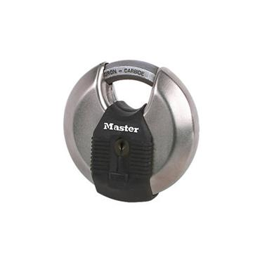 Masterlock 80mm Excell Stainless Steel Cyclinder Closed Shackle Disc Padlock | MLM50EURD