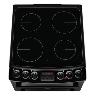 Zanussi 55cm Ceramic Top Electric Cooker - Black | ZCV46250BA