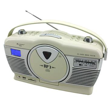 SOUNDMASTER RETRO RADIO CD player cream | RCD1350BE