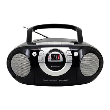 Soundmaster CD Boombox with Cassette player - Black | SCD5100B