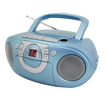 Soundmaster CD Boombox with Cassette player - Blue | SCD5100BL