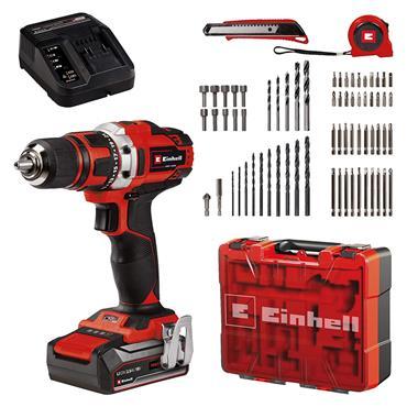 Einhell 18V Drill + 69 Piece Accessory Kit | EIN4513955