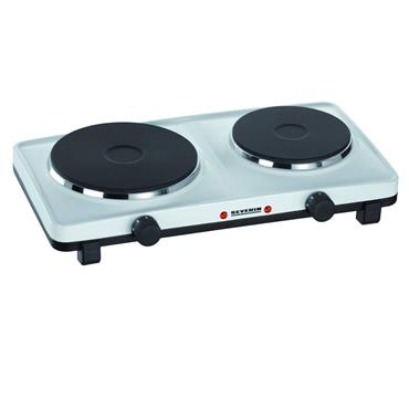 SEVERIN double SOLID plate TABLE TOP hob white | S71042