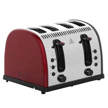 Russell Hobbs Legacy 4 Slice Toaster Red | 21301