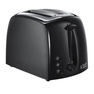 Russell Hobbs Textures 2-Slice Toaster Black   21641
