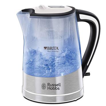 Russell Hobbs 1 Litre Purity Brita Filter Clear Plastic Kettle | 22851