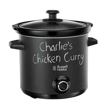 Russell Hobbs Chalkboard Slow Cooker 3.5 Litre - Black | 24180