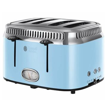 Russell Hobbs Retro 4 Slice Toaster Heavenly Blue | 21693