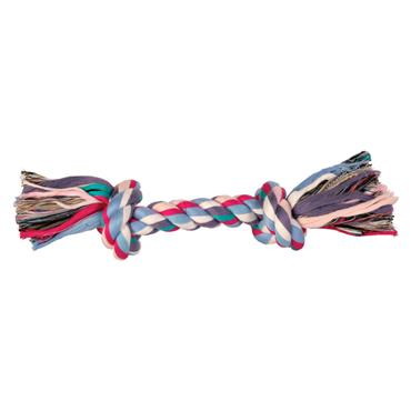 Trixie 20cm 2 Knot Colour Rope Dog Toy Tugger   TX2719