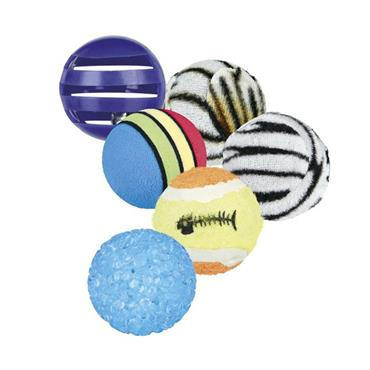 TRIXIE SET OF 6  TOY BALLS | TX4523