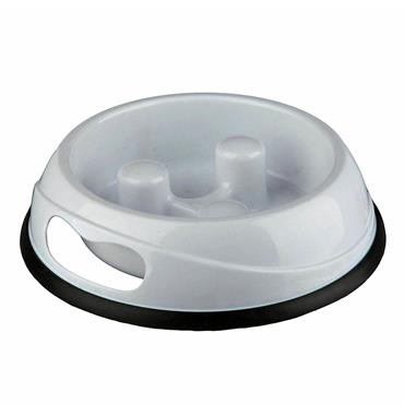 SLOW FEED PLASTIC BOWL 23CM/0.9 LITRE