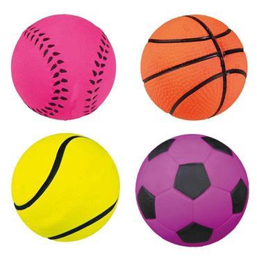 Trixie Soft Neon Rubber Balls 6cm   TX3475