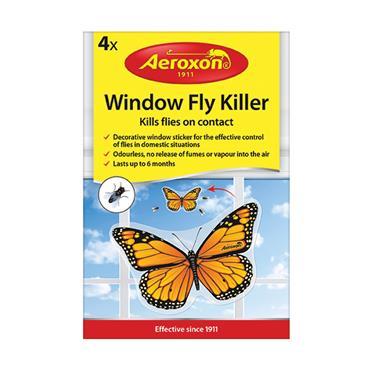 AEROXON WINDOW FLY STICKER KILLER 4 PACK BUTTERFLY | AX15