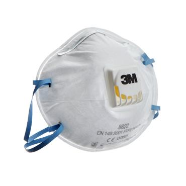 3M Dust Mask FFP2 Valved Respirator 8822 (Pack of 10) | 3M30313