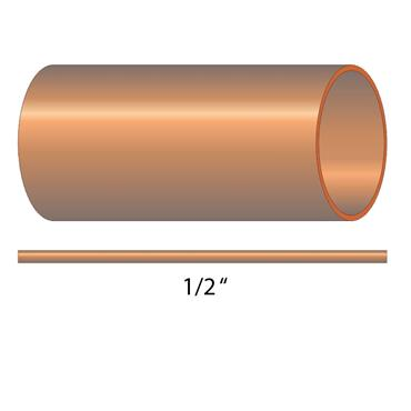 3M LENGTH OF 1/2'' COPPER TUBE