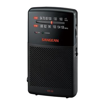 Sangean FM / AM Hand-held Radio - Black | SR35