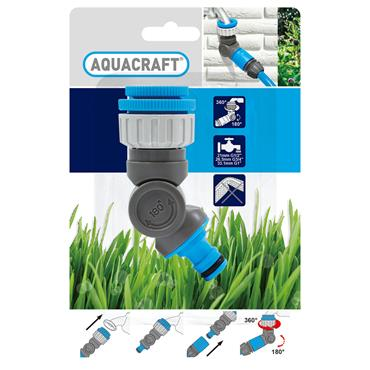 """Aquacraft Angled Tap Connector 1/2"""" - 3/4"""" 