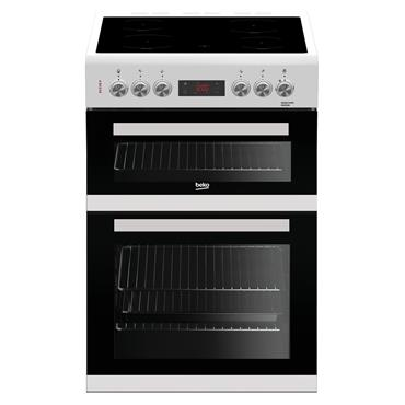 Beko 60cm Double Oven Electric Cooker - White | KDC653W