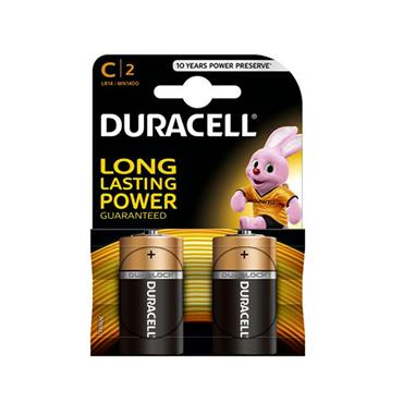 DURACELL PLUS POWER C BATTERY 2 PACK | 1008-02