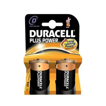 DURACELL PLUS POWER D BATTERY 2 PACK | 1008-00