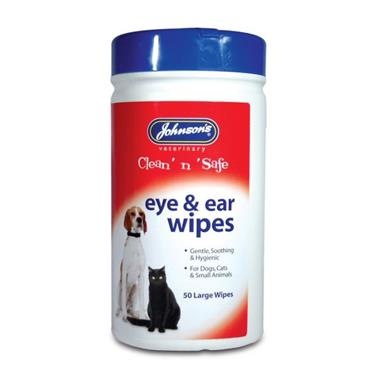 JOHNSONS EYE AND EAR WIPES 50 PACK